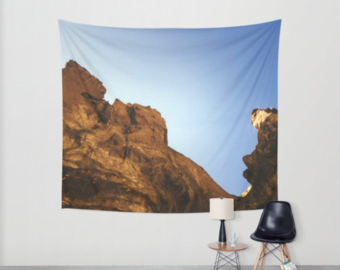 Hanging Tapestry - Wall Tapestry - Smith Rock - Bend, Oregon - Large Wall Hanging - Original Photo - Home Decor - Made to Order