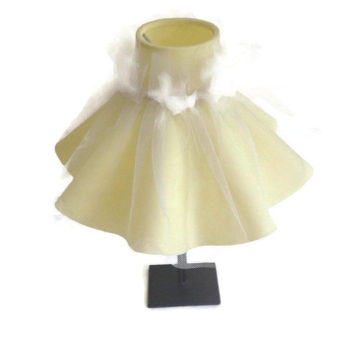 Metal Clip On Lamp Shade: 1950's Ruffled Lamp Shade-Clip On Shades-Yellow