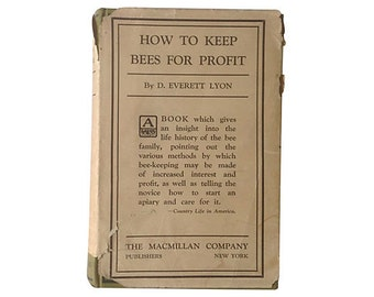 How to Keep Bees for Profit, 1929, Great Photos & Diagrams, Hardcover with Dust Jacket