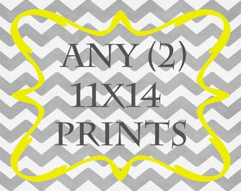 Any (2) 11x14 Print - ANY prints from Rizzle And Rugee