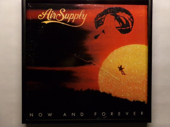 Glittered Record Album - Air Supply - Now and Forever