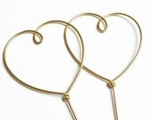 Two Hearts Wire Wedding Cake Topper- Silver, Gold, Brown, Black, Red, Copper, Diamond Cut Silver