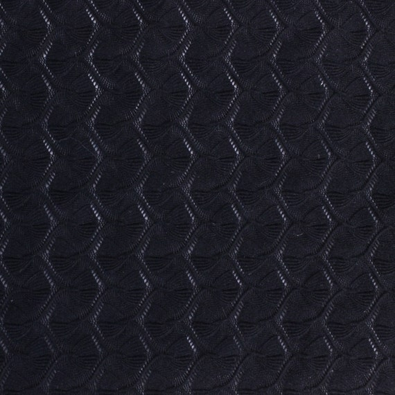 Black fish tail lace fabric by the yard 1 yard style 6509 for Fish fabric by the yard