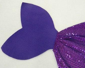 Adult/ Big Kid  Purple Mermaid Tail Costume (48 Inch)