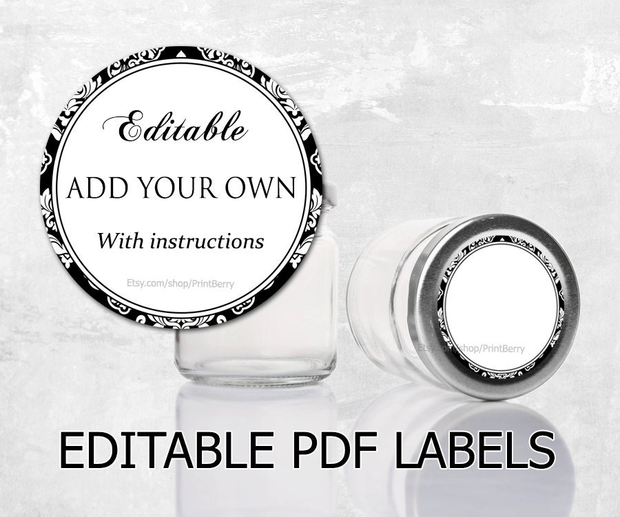 Editable recipe cards divider 4x6 recipe cards printable editable labels damask labels for mason jars editable printable labels mason jar labels editable pdf printable pronofoot35fo Gallery