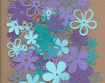 60 assorted Flowers Cool Waters Cricut Die Cut
