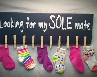 Missing Socks, Laundry Sign, Laundry Room Sign, Lost Socks, Laundry Room Fun, Sole Mate, Christmas Gift Ideas