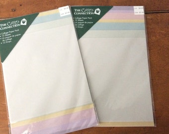 The CARD Connection Collage paper packs - 24 sheets