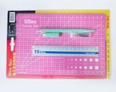 Rubber Stamp Carving Tool - set of 4, Eraser Carving Knife + Braids + Ruler + Cutting Mat