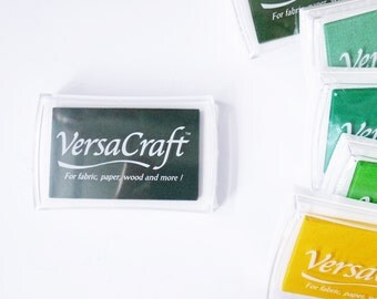 SALE Rubber Stamp Ink Pad - VersaCraft Versa Craft Inkpad - for fabric, paper, wood &more - LARGE VKS-163 *Forest* fingerprint ink pad