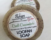 Cool Cucumber Loofah Soap