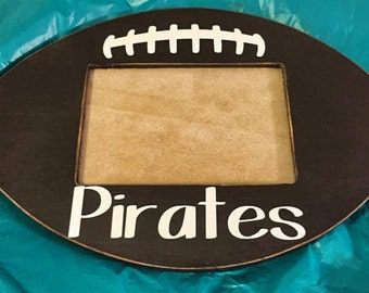 Unfinished (FOOTBALL) Whimsical Picture Frame Wooden Paintable Wood
