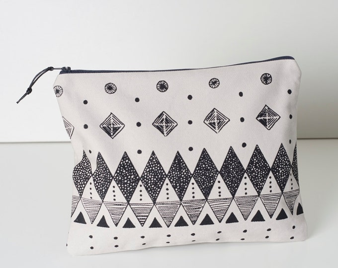 Large Screen Pouch - Geometric Screen print