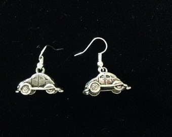 VW Beetle Bug Earrings.
