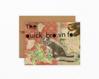 The Quick Brown Fox : Blank Card