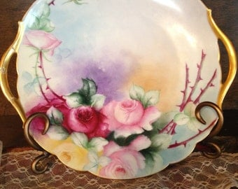 Antique Handpainted Limoges Platter