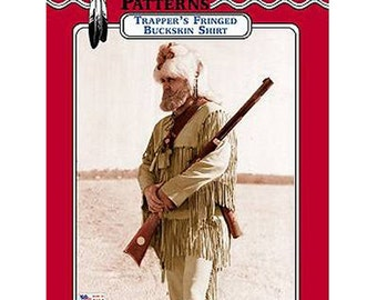 Trapper's Fringed Buckskin Shirt Pattern