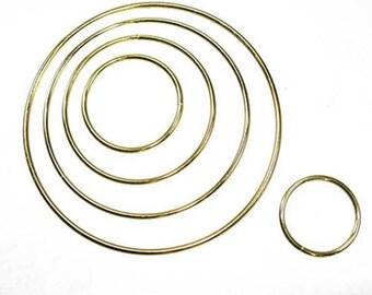 """Metal Dreamcatcher Ring Hoop 6""""/ 15.2cm Brass"""