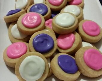Mini Princess Round Button Cookies (4 dozen)