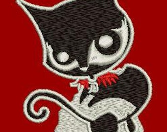 Machine Embroidery design  - little kitty