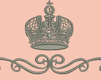 crown and ribbon -  3 sizes 180mm, 130 mm, 100mm width  (4 Inch),
