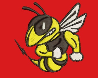 hornet - Machine Embroidery Design - 60*60mm / 2.2*2.2 inc / 7800 stc.