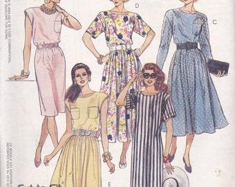 McCalls 4933 Vintage Pattern Womens Dress in 5 Variations SIze 10,12,14 UNCUT