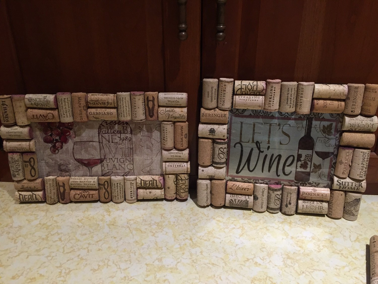 Wine Cork Wall Decor by reWineandCork on Etsy