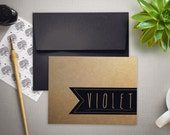 Personalized Stationery | Thank You Cards | Personalized Stationary for Men | KRAFT BANNER | Folded Notecards | Stationary Set