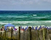 Families on the beach  in Seaside, Florida (16 x 20 canvas)