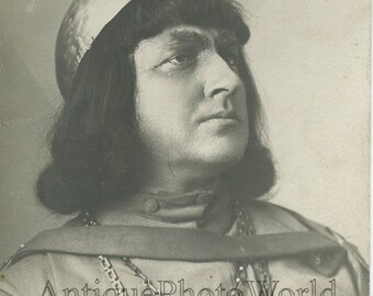 Soviet Russian actor Yurij Yuriev antique rppc photo