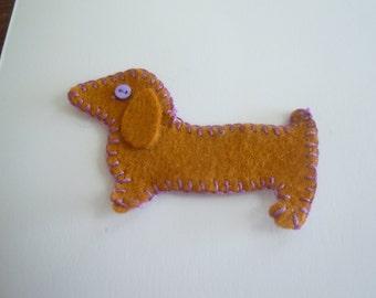 Purple eye dachshund greeting card!