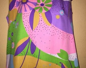 Vintage Retro 60's Sleeveless Dress-Total Love Shack Theme- Tubed Neckline & Hem Total Hit