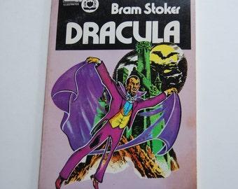 Vintage Children's Book Bram Stoker Dracula, Graphic Novel