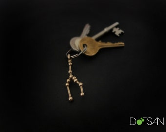 Taurus Constellation Keychain Keyring