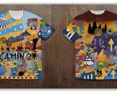 """All over print T-Shirt """"Camino Steps"""" Camino de Santiago"""