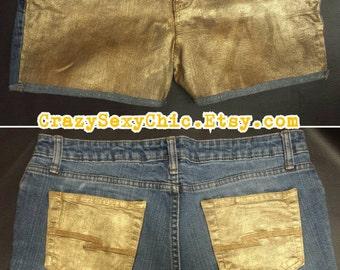 Gold Metallic Shorts Women's size 13