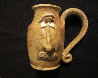Character mug: Sandy suntan for Dandy Dan face mug.