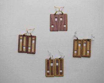 Wood Earring - Window design