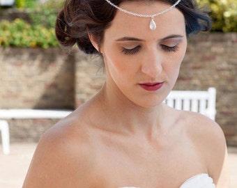 Swarovski crystal bridal forehead piece