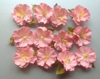 Reduced -  Beautiful, Lifelike, Handmade Cardstock Flowers/Cherry Blossoms