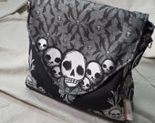 Skulls and Bats Messenger Bag