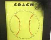 Personalized Softball or baseball coaches gift