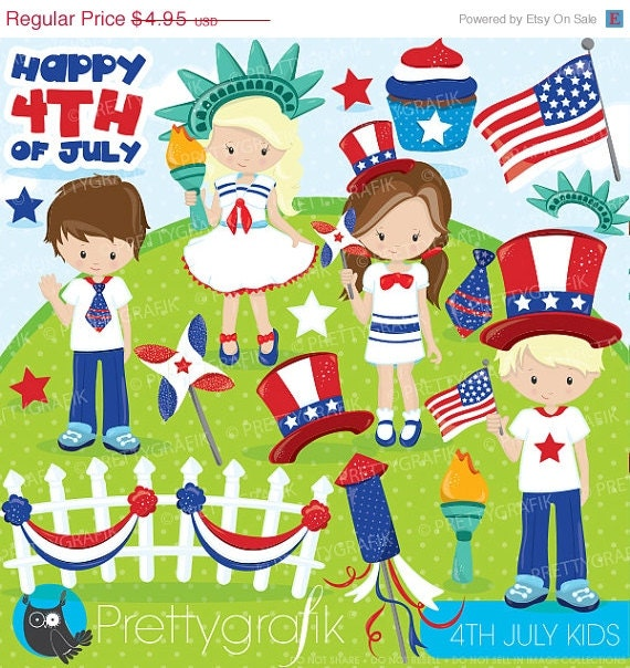 May The 4th Be With You Clip Art: 80% OFF SALE Independence Day Kids Clipart By