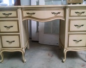 Hold for Janet - - -  Pick your color - - Vintage French Provincial desk vanity by Drexel