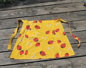Ladybug Half Apron