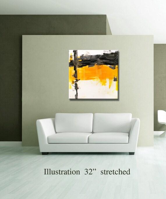 36 yellow gray black original square abstract by editvorosart. Black Bedroom Furniture Sets. Home Design Ideas