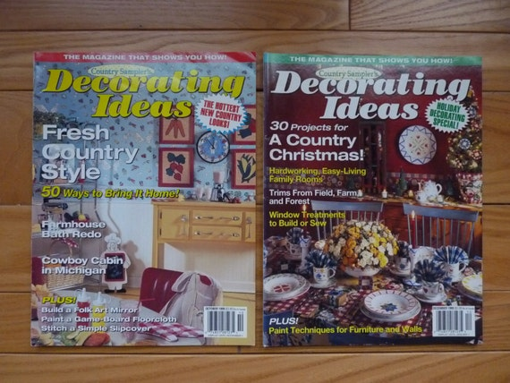 country sampler 39 s decorating ideas magazines two vintage issues