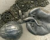 Patina Destash--- Vintage Salamander Buckle, Antique Fancy Bracelet, OLD Little Tin Baking Cup