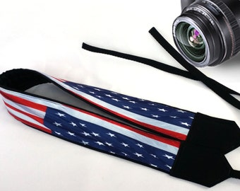 US flag Camera Strap. DSLR/SLR Camera Strap, Camera Accessories